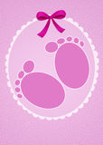 First steps. Funny illustration of first steps Royalty Free Stock Photo