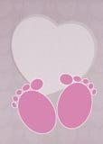 First steps. Illlustration of first steps postcard Stock Image