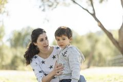 First steps with mom Royalty Free Stock Photography