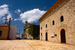 The first street in America. (Dominican republic, Santo-Domingo Royalty Free Stock Image