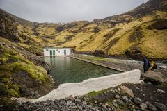 The first swimming pool of Iceland Royalty Free Stock Photography