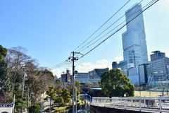 The first high building in Japan Osaka Harukas stock photo
