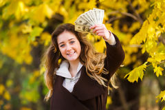 The first teenager's pay Stock Images