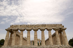 First Temple of Hera, Paestum, Italy Royalty Free Stock Photo