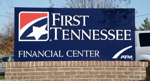 First Tennessee Bank Sign Royalty Free Stock Photo