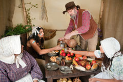 First Thanksgiving reenactment Stock Photo
