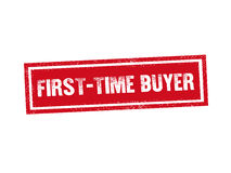 FIRST-TIME BUYER red stamp seal text message on white background Stock Photos