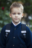 First time goes to school Stock Photos