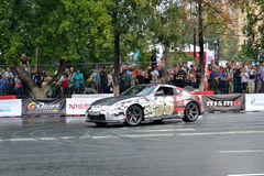 For the first time in Tyumen 18.08.2013 grandiose Nismo G-Drive Royalty Free Stock Image