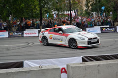 For the first time in Tyumen 18.08.2013 grandiose Nismo G-Drive Stock Photography