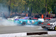 For the first time in Tyumen 18.08.2013 grandiose Nismo G-Drive Stock Photo