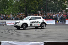 For the first time in Tyumen 18.08.2013 grandiose Nismo G-Drive Stock Photos
