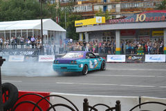 For the first time in Tyumen 18.08.2013 grandiose Nismo G-Drive Stock Image