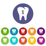 First tooth icon, simple style. First tooth icon. Simple illustration of first tooth vector icon for web Royalty Free Stock Photos