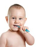 First toothbrush Stock Images