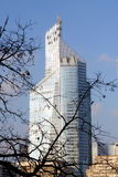 The First Tower in La Defense in Paris Royalty Free Stock Photography