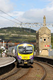 First TPE train leaving Carnforth for Barrow. Royalty Free Stock Photo