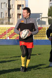 First training of the Catalans dragons Stock Photography
