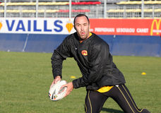 First training of the Catalans dragons Stock Image