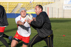 First training of the Catalans dragons Royalty Free Stock Photos