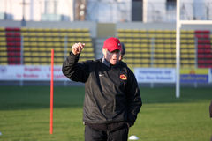 First training of the Catalans dragons Royalty Free Stock Image