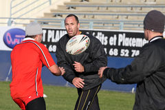 First training of the Catalans dragons Stock Photos