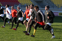 First training of the Catalans dragons Royalty Free Stock Photo