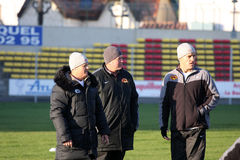 First training of the Catalans dragons Royalty Free Stock Photography