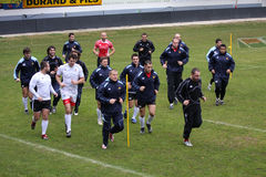 First training of Dan Carter with USAP Royalty Free Stock Images