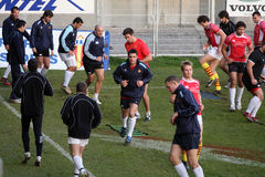 First training of Daniel Carter with the USAP Stock Images