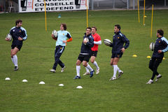 First training of Daniel Carter with the USAP Royalty Free Stock Images