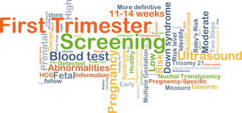 First trimester screening background concept Royalty Free Stock Photo