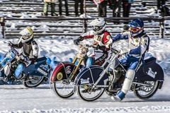 Before the first turn. Russia. The Republic Of Bashkortostan. The Ufa. Racing on ice. The Championship Of Russia. A final . February 1, 2014 Royalty Free Stock Photo