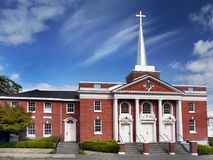 Astoria Church, Oregon, United States. First United Methodist Church in Astoria. Oregon, United States Stock Photo