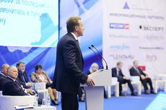 First Vice Premier Igor Shuvalov speaks Royalty Free Stock Image