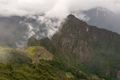 Machu Picchu Inca Trail Landscape, Peru royalty free stock photos