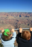 First view of Grand Canyon Royalty Free Stock Photos