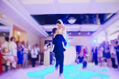 First wedding dance royalty free stock photography