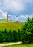 First wind turbines in Romania Royalty Free Stock Photos