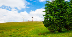 First wind turbines in Romania Stock Photography