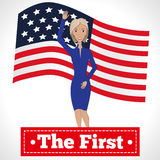 The first woman president Royalty Free Stock Images