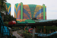 First World Hotel at Genting Highlands. Genting Highlands, Malaysia - April 3, 2013: First World Hotel is the fourth largest hotel in the world by number of Royalty Free Stock Images
