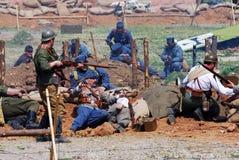 First World War battle reenactment Stock Photography