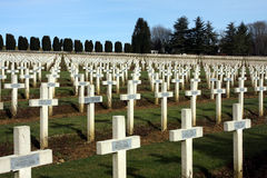 First World War Cemetery Verdun Royalty Free Stock Photo