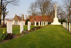 First World War Cemtery. Ramparts First World War Commonwealth Cemetery in Ypres, Belgium Stock Photo