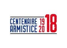 1918-2018 FIRST WORLD WAR CENTENARY - ARMISTICE DAY stock illustration