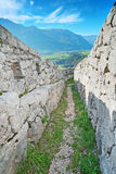 First World War fortifications in Alps Stock Image