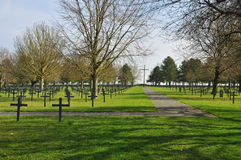 First World War German cemetery, Northern France Royalty Free Stock Images