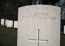 First World War military gravestone Stock Photography