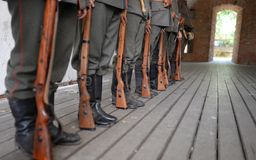 first World War soldiers Stock Photo